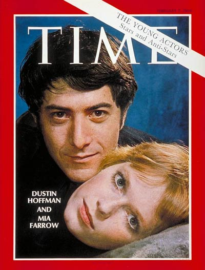 TIME Magazine Cover: Dustin Hoffman and Mia Farrow -- Feb. 7, 1969