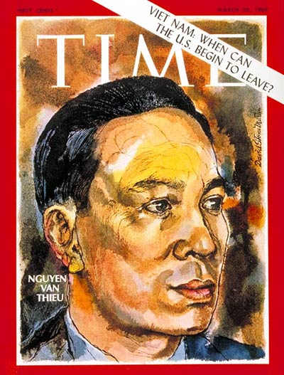 TIME Magazine Cover: Nguyen van Thieu -- Mar. 28, 1969