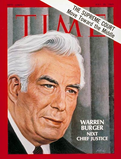 TIME Magazine Cover: Warren Burger -- May 30, 1969
