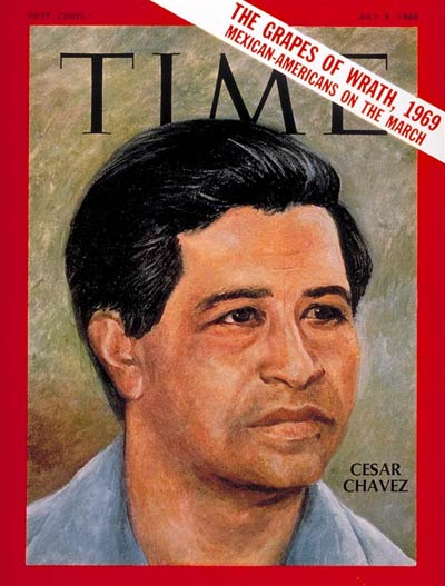 TIME Magazine Cover: Cesar Chavez -- July 4, 1969