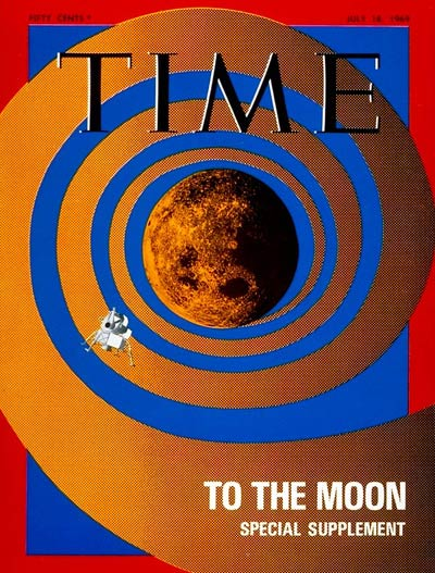 TIME Magazine Cover: Lunar Exploration -- July 18, 1969