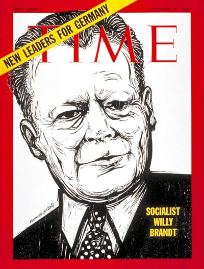 TIME Magazine Cover: Willy Brandt -- Oct. 10, 1969