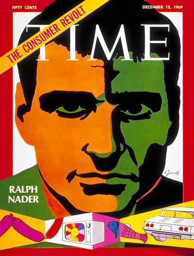 TIME Magazine Cover: Ralph Nader -- Dec. 12, 1969