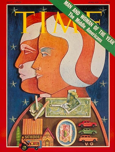TIME Magazine Cover: Middle Americans, Man/Woman of the Year -- Jan. 5, 1970