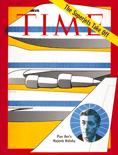 TIME Magazine Cover: Najeeb Halaby -- Jan. 19, 1970