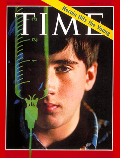 TIME Magazine Cover: Heroine Hits the Young -- Mar. 16, 1970