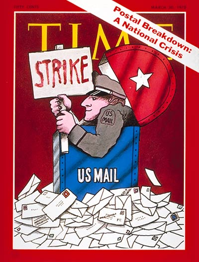 TIME Magazine Cover: U.S. Postal Strike -- Mar. 30, 1970