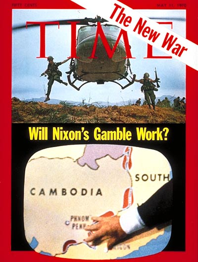 TIME Magazine Cover: Cambodian Invasion -- May 11, 1970