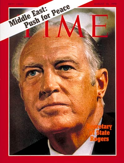 TIME Magazine Cover: William P. Rogers -- Aug. 10, 1970