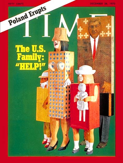 TIME Magazine Cover: The U.S. Family -- Dec. 28, 1970
