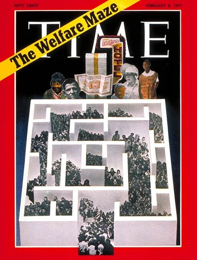 TIME Magazine Cover: The Welfare Maze -- Feb. 8, 1971