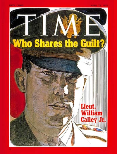 TIME Magazine Cover: Lt. William Calley Jr. -- Apr. 12, 1971