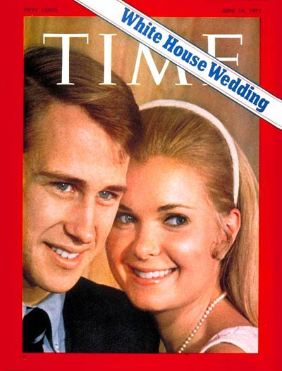 TIME Magazine Cover: Eddie Cox and Tricia Nixon -- June 14, 1971