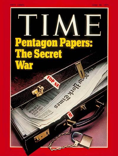 TIME Magazine Cover: The Pentagon Papers -- June 28, 1971