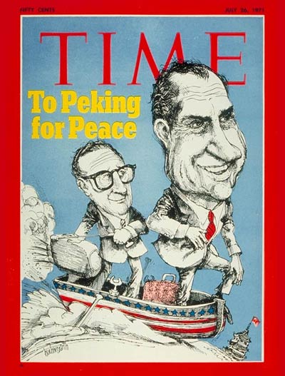 Time Magazine Cover Henry Kissinger And Richard Nixon  July