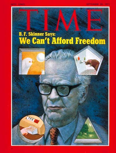 Behavioral psychologist B. F. Skinner