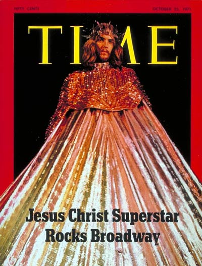 Actor Jeff Fenholt as Jesus in Broadway play 'Jesus Christ Superstar'