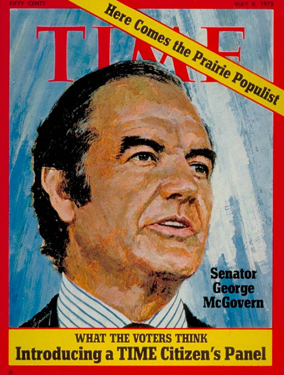 TIME Magazine Cover: Senator George McGovern -- May 8, 1972
