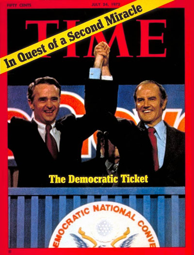 TIME Magazine Cover: George McGovern and Thomas Eagleton -- July 24, 1972