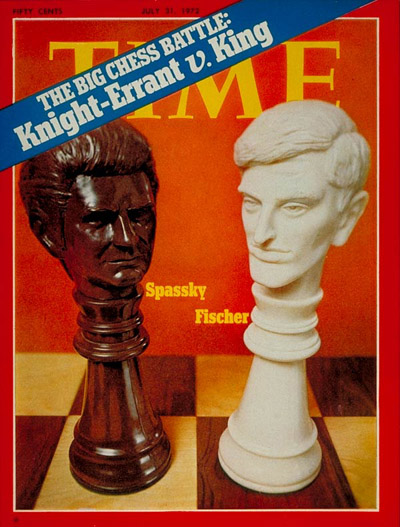 Chess match between Russian Boris Spassky and American Bobby Fischer