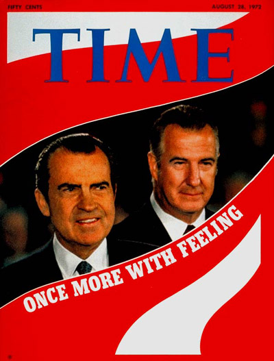 TIME Magazine Cover: Richard Nixon and Spiro Agnew -- Aug. 28, 1972