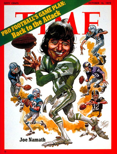 TIME Magazine Cover: Joe Namath -- Oct. 16, 1972