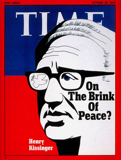 TIME Magazine Cover: Henry Kissinger -- Oct. 30, 1972