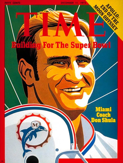 Miami Dolphin football coach Don Shula
