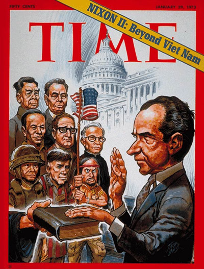 TIME Magazine Cover: Nixon's Second Term -- Jan. 29, 1973