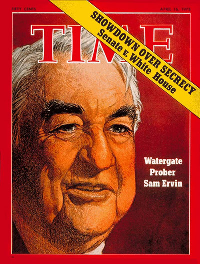 TIME Magazine Cover: Senator Sam Ervin -- Apr. 16, 1973