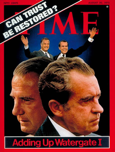 TIME Magazine Cover: Spiro Agnew and Richard Nixon -- Aug. 20, 1973