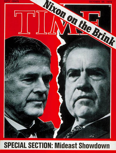Archibald Cox and Richard Nixon
