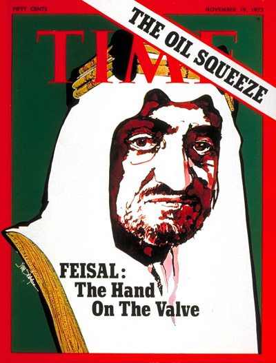King Faisal  Saudia Arabia (named spelled Feisal on the TIME cover)
