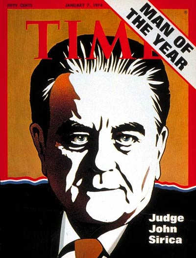 TIME Magazine Cover: Judge J. Sirica, Man of the Year -- Jan. 7, 1974