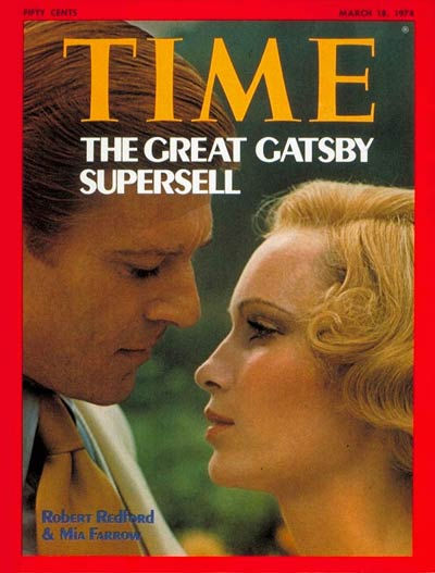 Robert Redford & Mia Farrow in 'The Great Gatsby'.