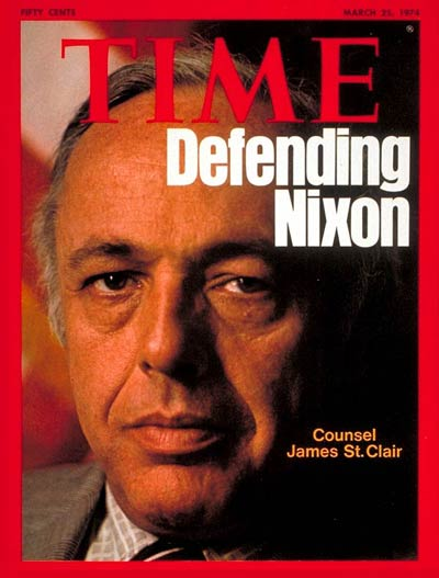 TIME Magazine Cover: James St. Clair -- Mar. 25, 1974