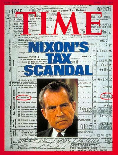 TIME Magazine Cover: Nixon's Tax Scandal -- Apr. 15, 1974