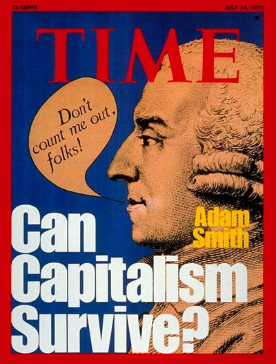 Adam Smith come back from the dead on the cover of Time magazine