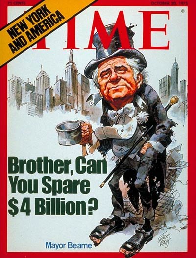 TIME Magazine Cover: Mayor Jacob Beame -- Oct. 20, 1975