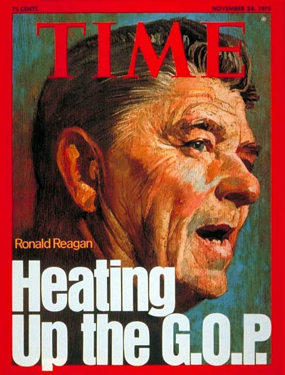 Ex-California Governor and Republican Presidential hopeful Ronald Reagan.
