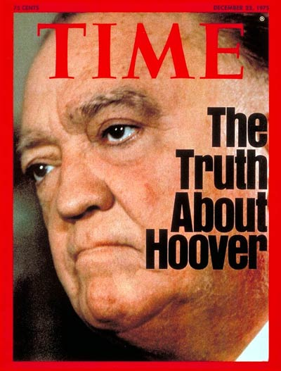 TIME Magazine Cover: J. Edgar Hoover -- Dec. 22, 1975