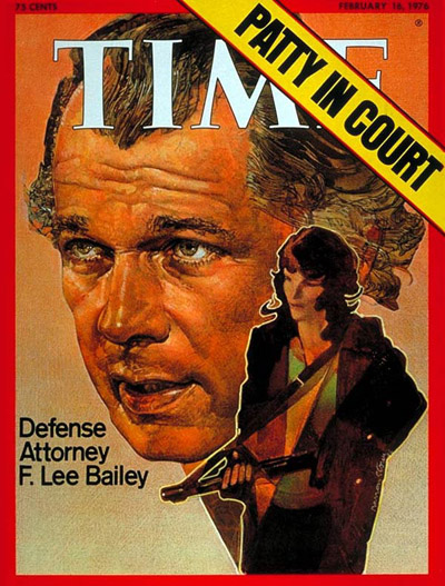 Defense lawyer F. Lee Bailey & client Patty Hearst.
