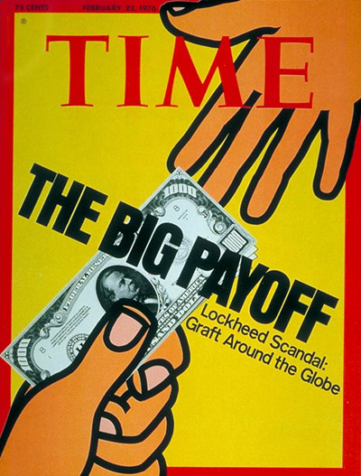 TIME Magazine Cover: Lockheed Scandals -- Feb. 23, 1976