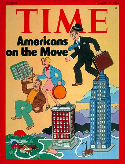 TIME Magazine Cover: Mobile Americans -- Mar. 15, 1976