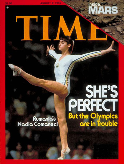 time magazine cover nadia comaneci aug 2 1976 olympics gymnastics romania sports. Black Bedroom Furniture Sets. Home Design Ideas