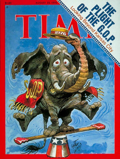 TIME Magazine Cover: The G.O.P. in Trouble -- Aug. 23, 1976