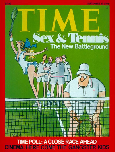 TIME Magazine Cover: Sex and Tennis -- Sep. 6, 1976