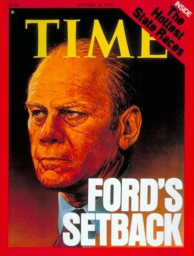 TIME Magazine Cover: Gerald Ford -- Oct. 18, 1976