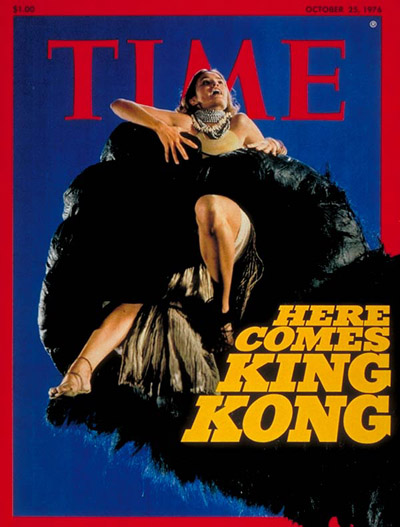 Actress Jessica Lange in remake of  'King Kong'.
