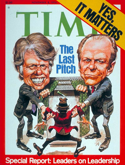 TIME Magazine Cover: Carter & Ford -- Nov. 8, 1976
